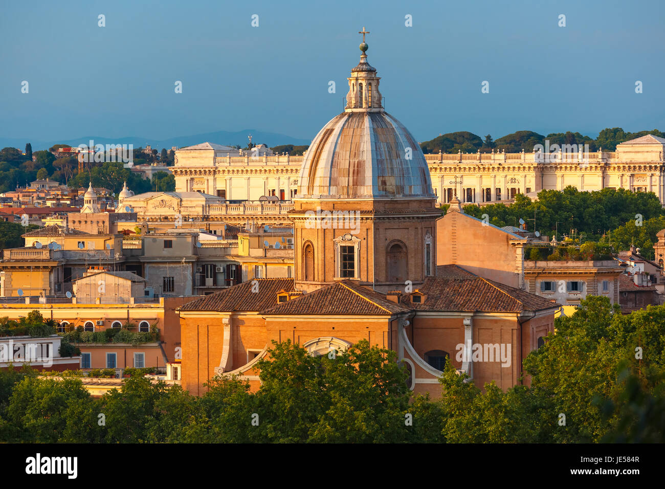 San Giovanni dei Fiorentini Kirche in Rom, Italien Stockbild
