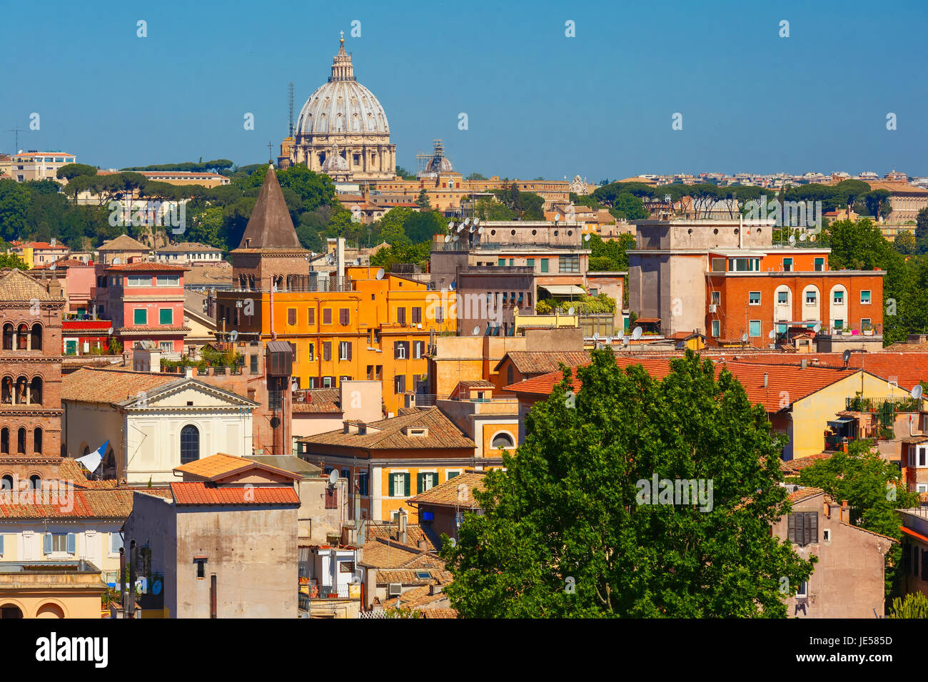 Luftaufnahme von Rom, Italien Stockbild
