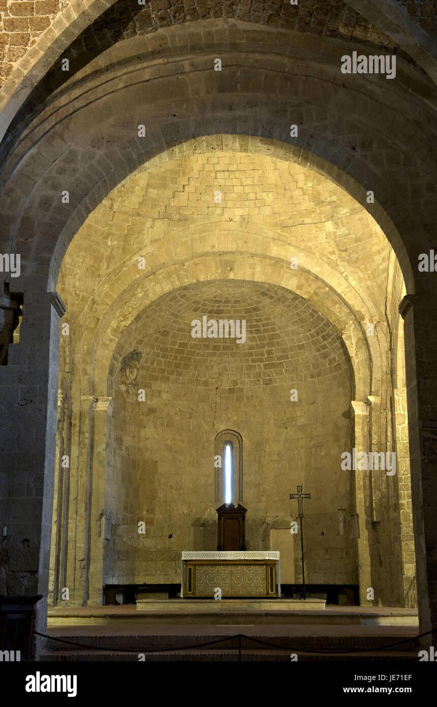 Italien, Toskana, La Maremma, Sovana, Kathedrale St. Peter und Paul, Tresor, Stockbild