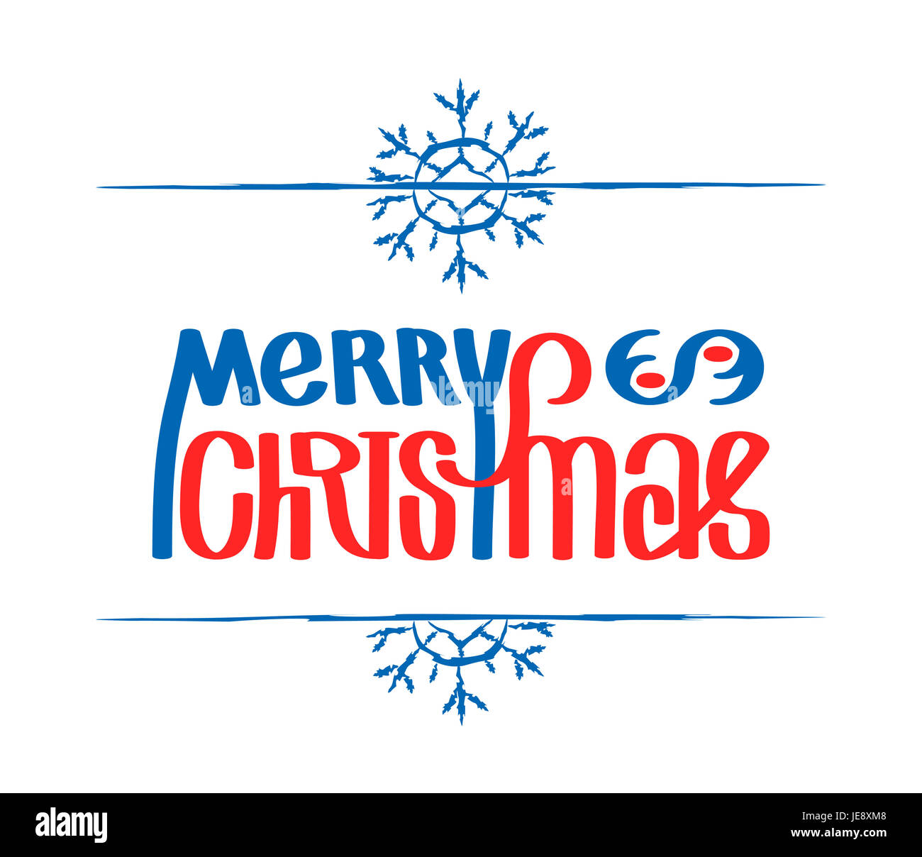 Frohe Weihnachten. Kalligraphie-ClipArt, Illustration. Geeignet für ...