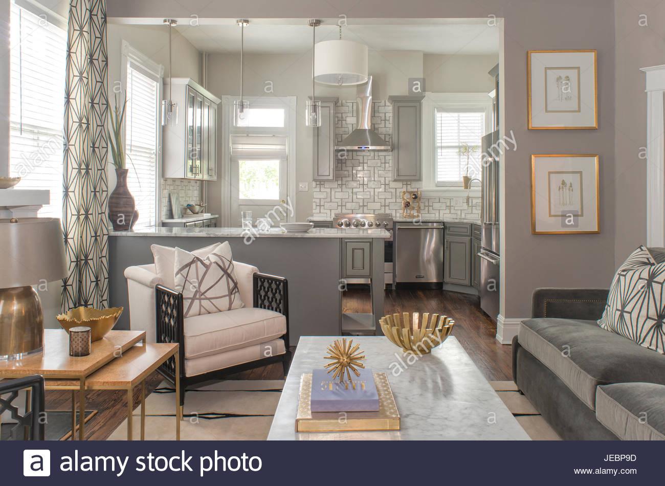 Mitte Jahrhundert Moderne Wohnzimmer, Küche