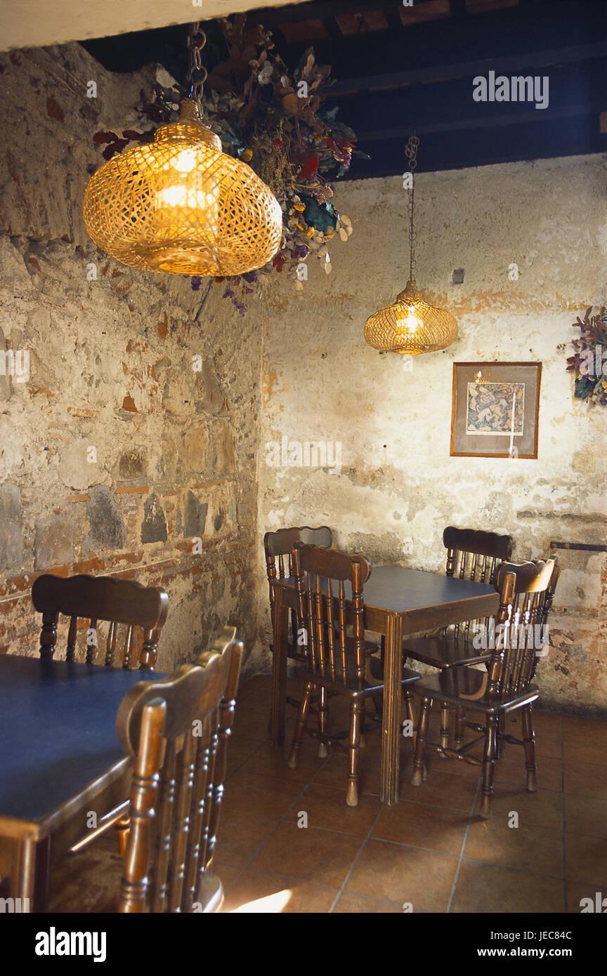 Guatemala Antigua Guatemala Restaurant Tische Stuhle Detail
