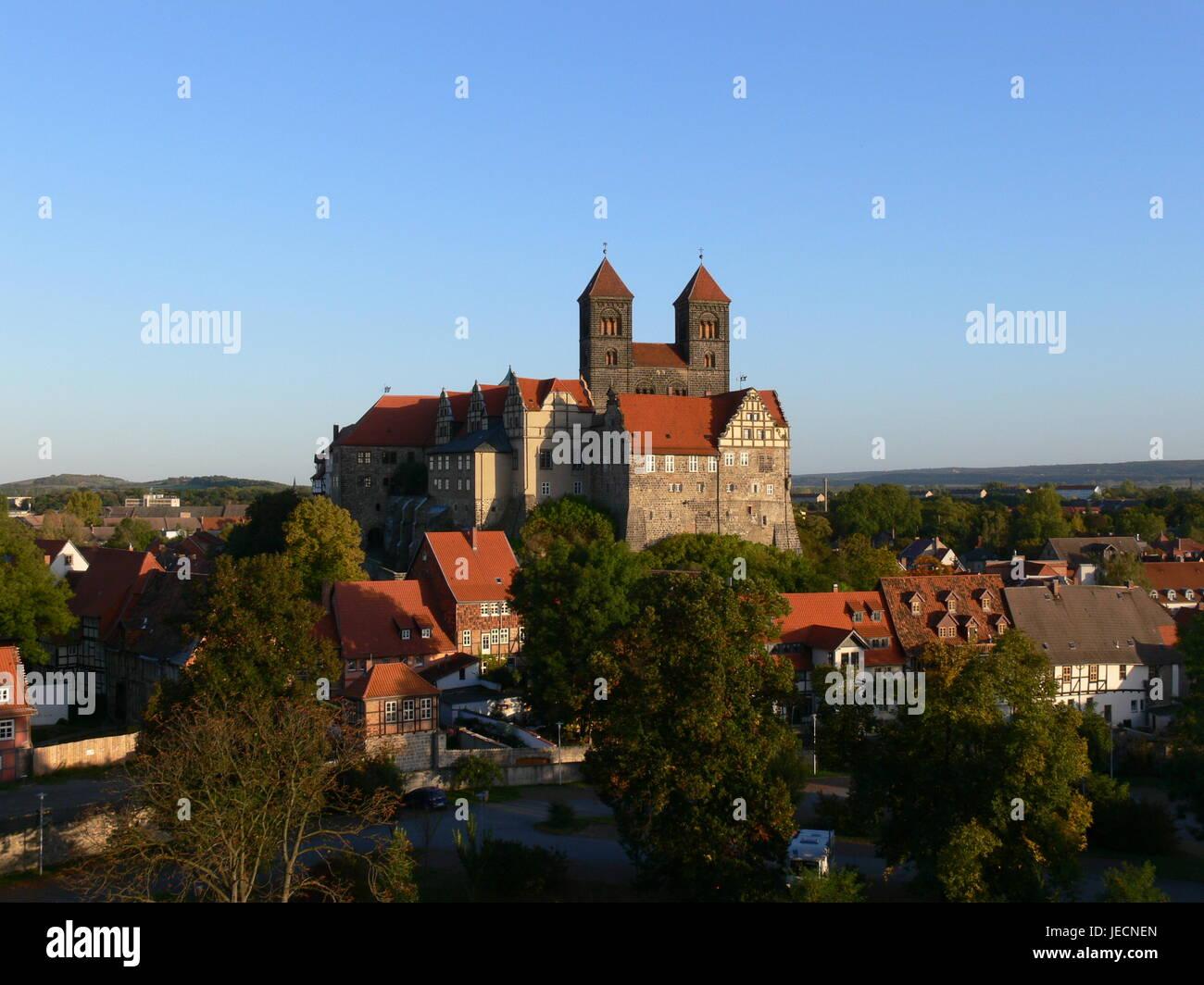 Schloss Quedlinburg in Sachsen-Anhalt, Deutschland Stockfoto