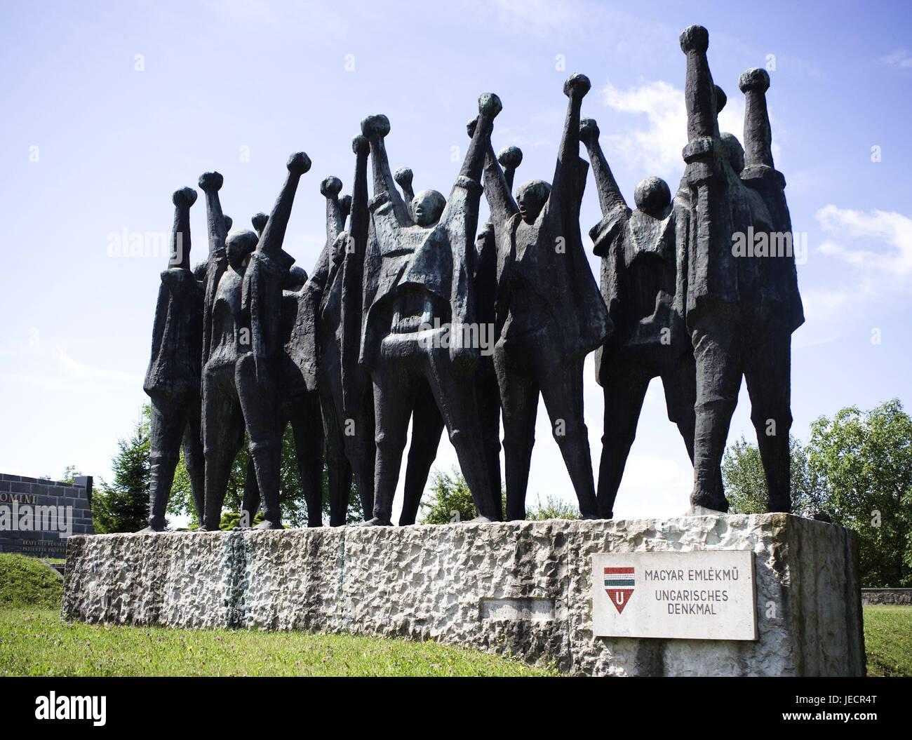 österreich Mauthausen Kz Gedenkstätte Skulptur Ungarische