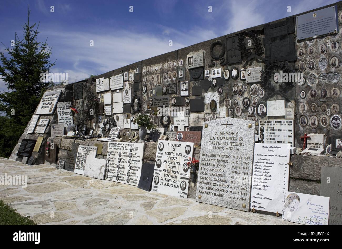 österreich Mauthausen Kz Gedenkstätte Italienische Denkmal