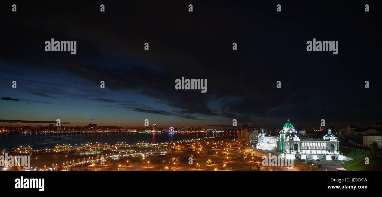 KAZAN, RT - 24.06.2017: Allgemeine Bilder KAZAN 2017 - Blick vom Kreml Cazã von den Anfängen der Stadt. Stockbild