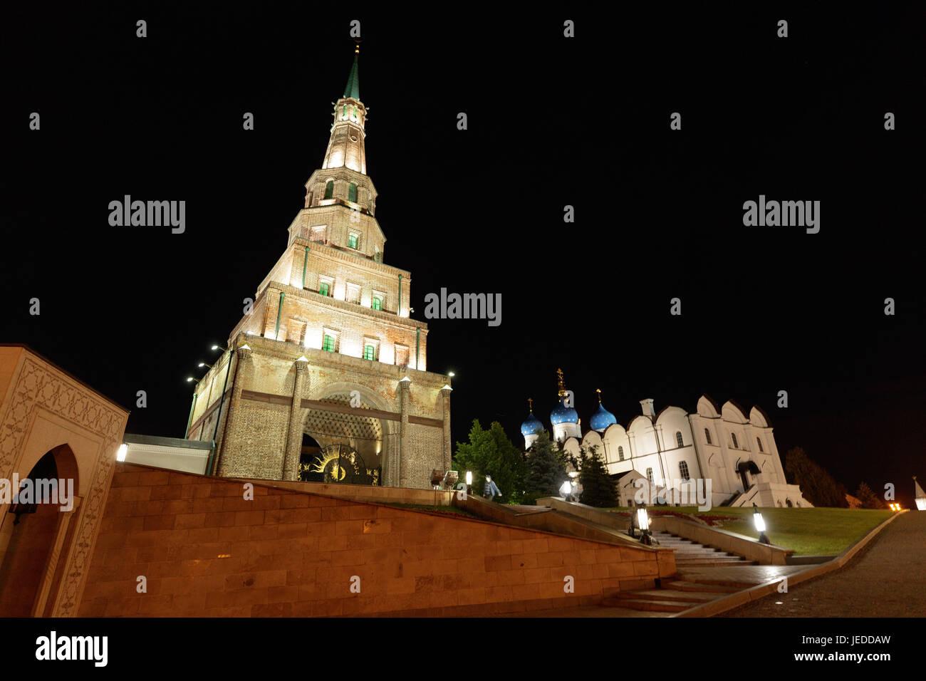 KASAN, RT - 24.06.2017: Allgemeine Bilder KAZAN 2017 - der Kasaner Kreml wurde 2000 von der UNESCO zum Weltkulturerbe Stockbild