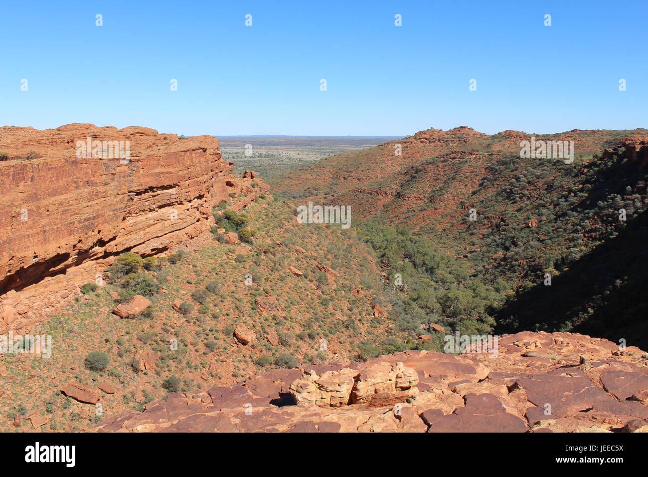 Kings Canyon im Northern Territory von Australien Stockfoto