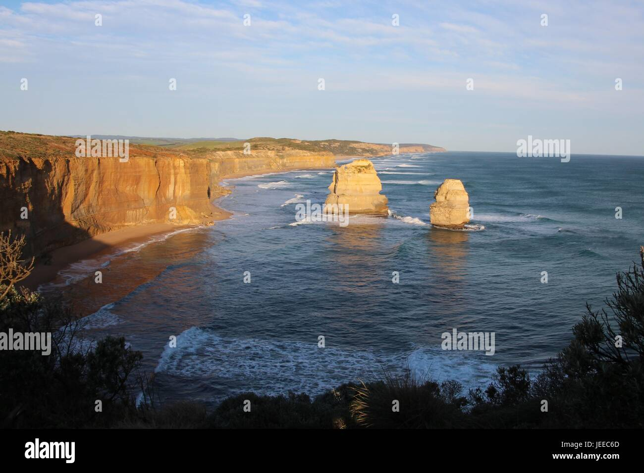 Küstenlinie auf die Great Ocean Road Stockfoto