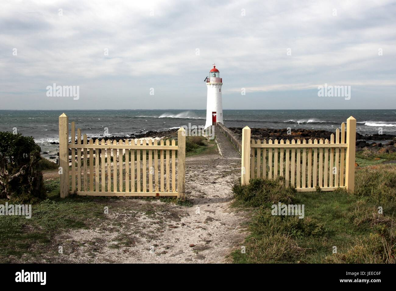 Port Fairy Leuchtturm auf Griffiths Insel Stockfoto