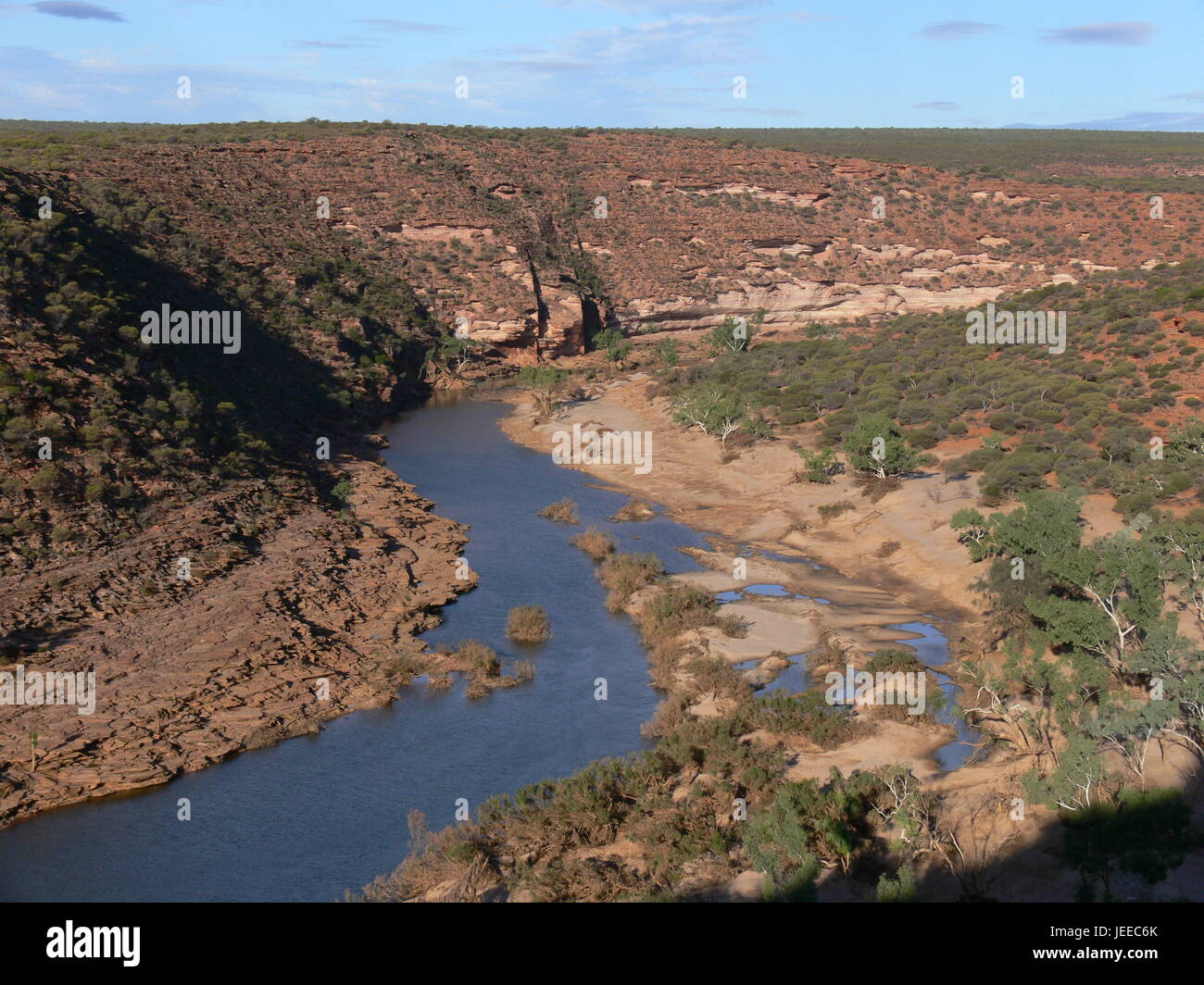 Murchison River, Kalbarri National Park in Westaustralien Stockfoto