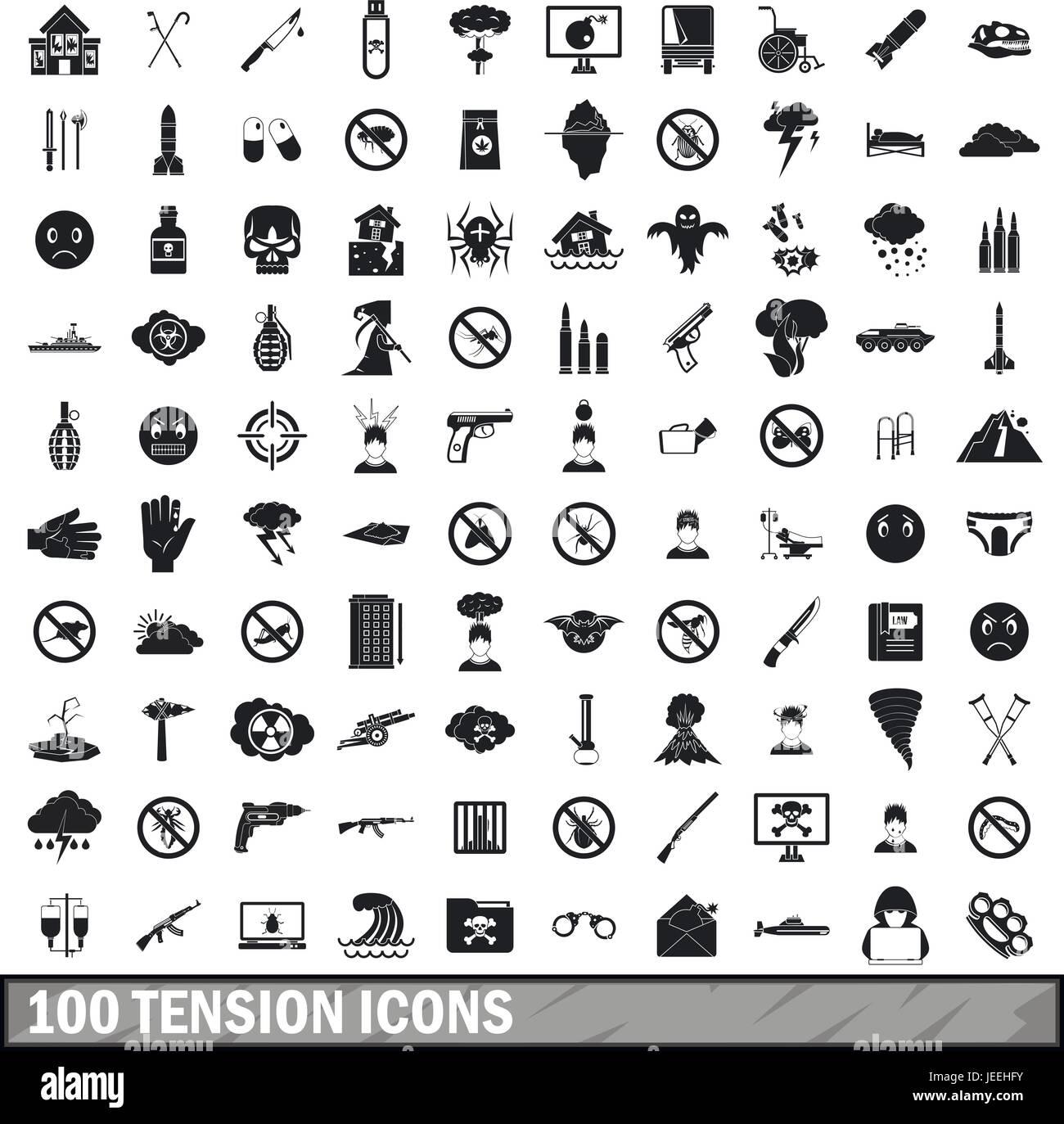 Tsunami Icons Set Simple Illustration Stockfotos & Tsunami Icons Set ...