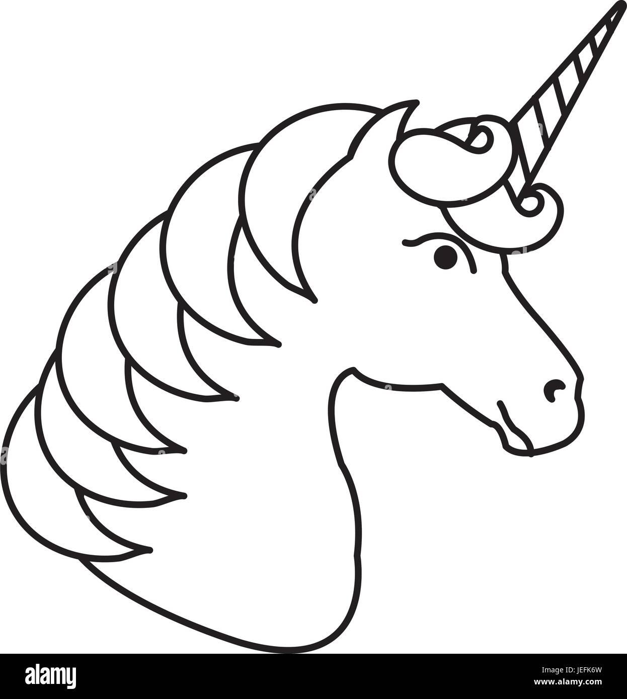 Einhorn-Tierhorn-Symbol-Vektor-Illustration-Design