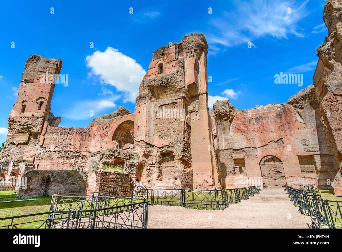 Terme di caracalla oder die Bäder von Caracalla in Rom, Italien, waren an zweiter Stelle der Stadt größte Stockbild