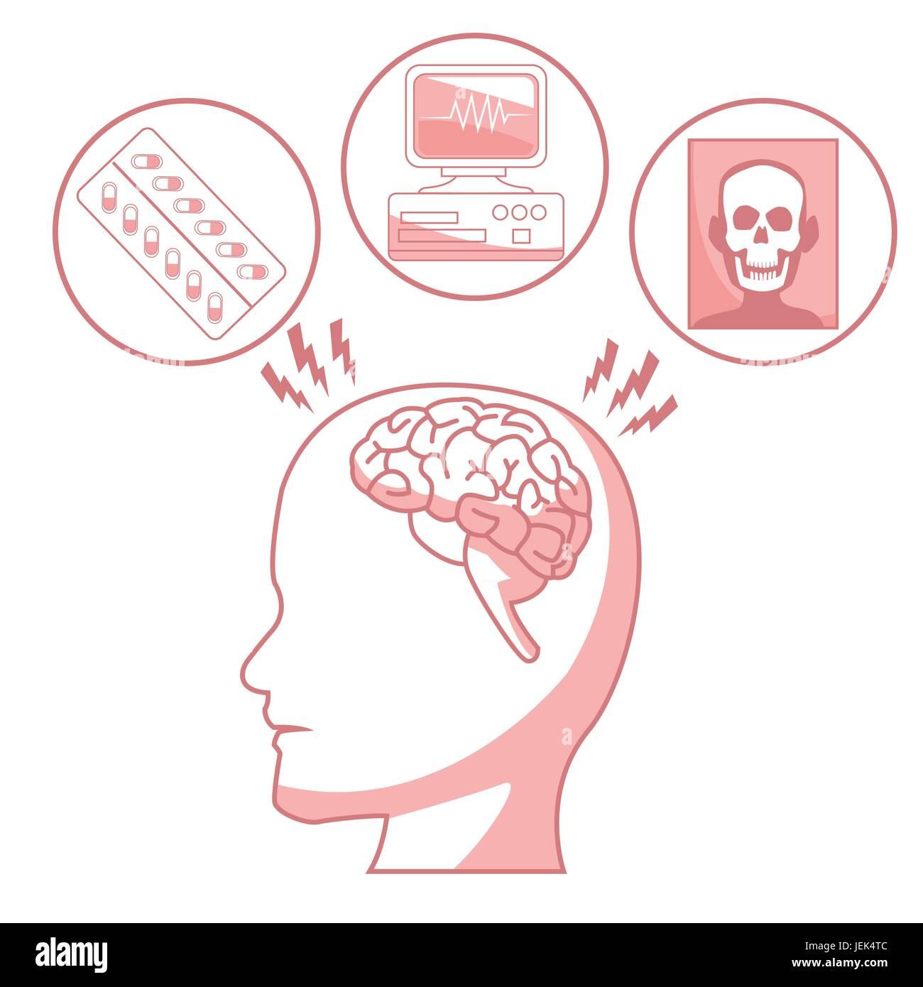Tolle Menschliches Gehirn Diagramm Mit Etikett Zeitgenössisch ...