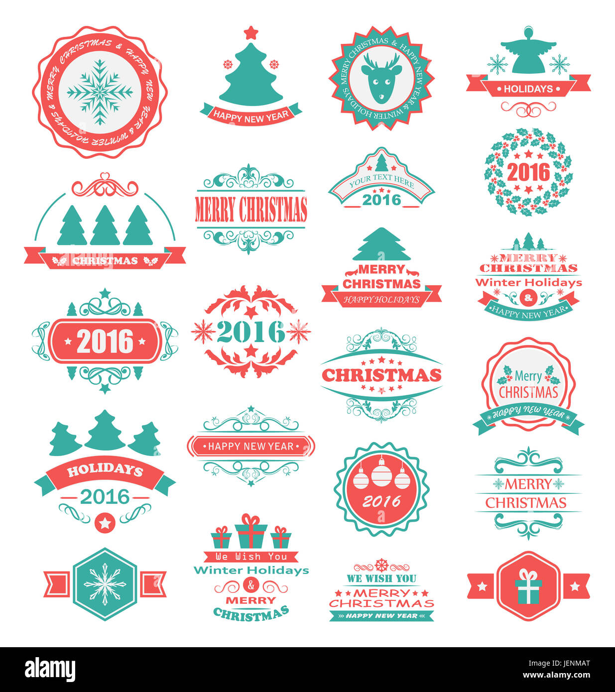 Etiketten Frohe Weihnachten.Abbildung Frohe Weihnachten Und Schöne Feiertage Wünschen