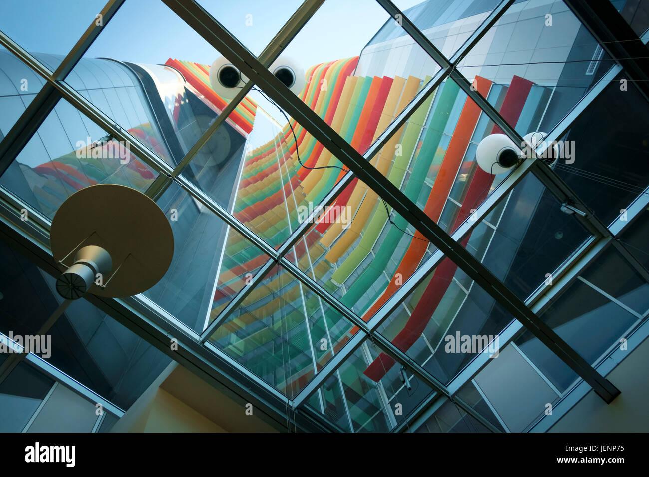 Die atemberaubende Architektur aus Glas und Stahl der Münze Department Store, eines der modernsten Gebäude Stockbild