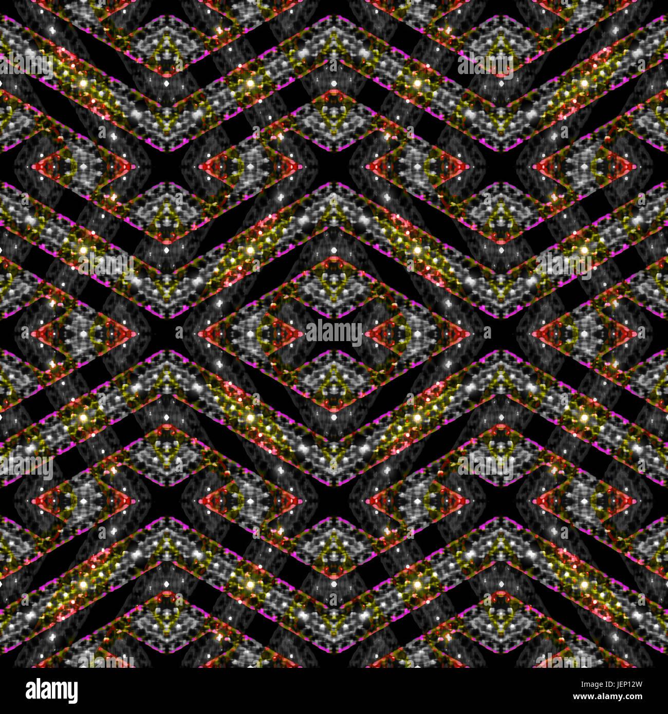 Anspruchsvolle Moderne nahtlose Muster prüfen Stockbild