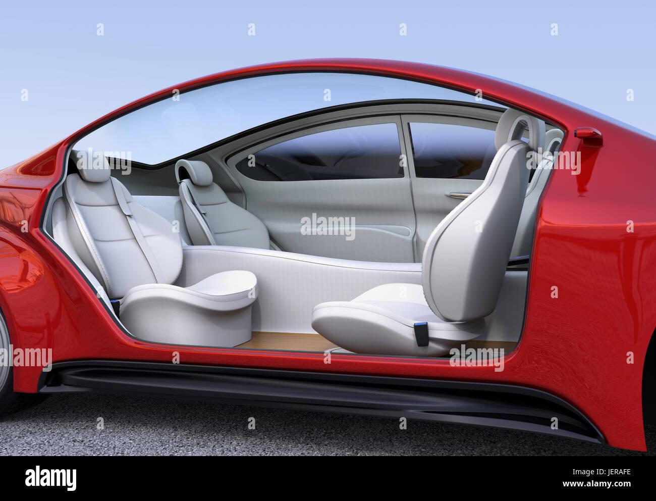 Self Driving Car Interior Concept Front Stockfotos & Self Driving ...