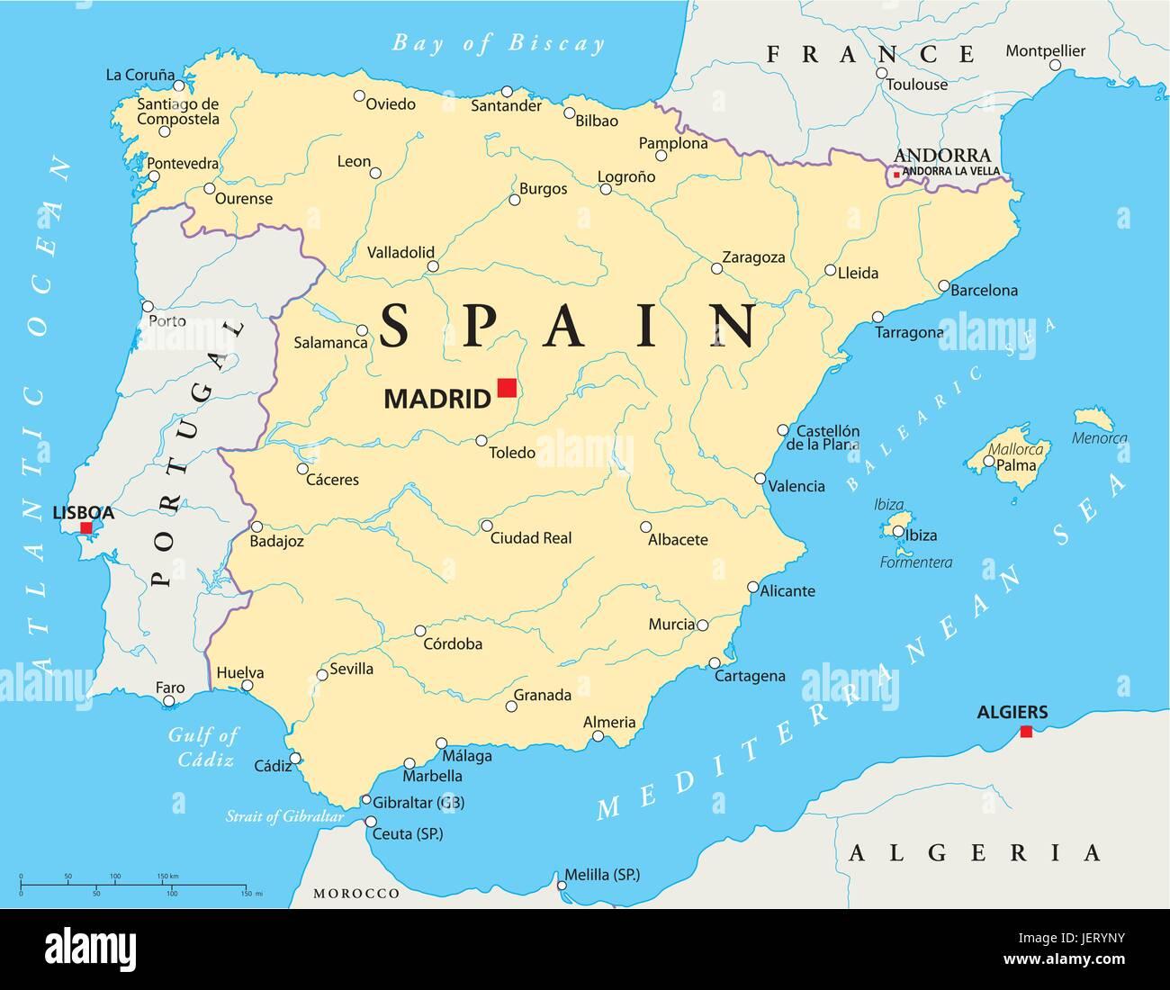 Mallorca Spanien Lissabon Madrid Karte Atlas Weltkarte