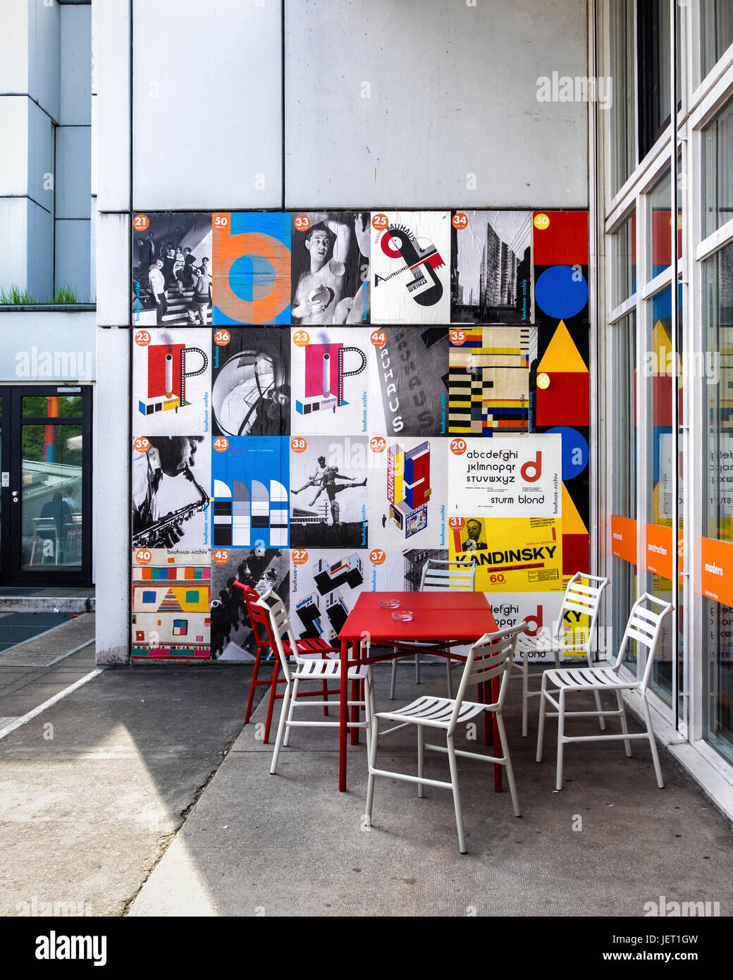 Berlintiergartenthe Bauhaus Gebäude Bauhaus Archiv Museum Für