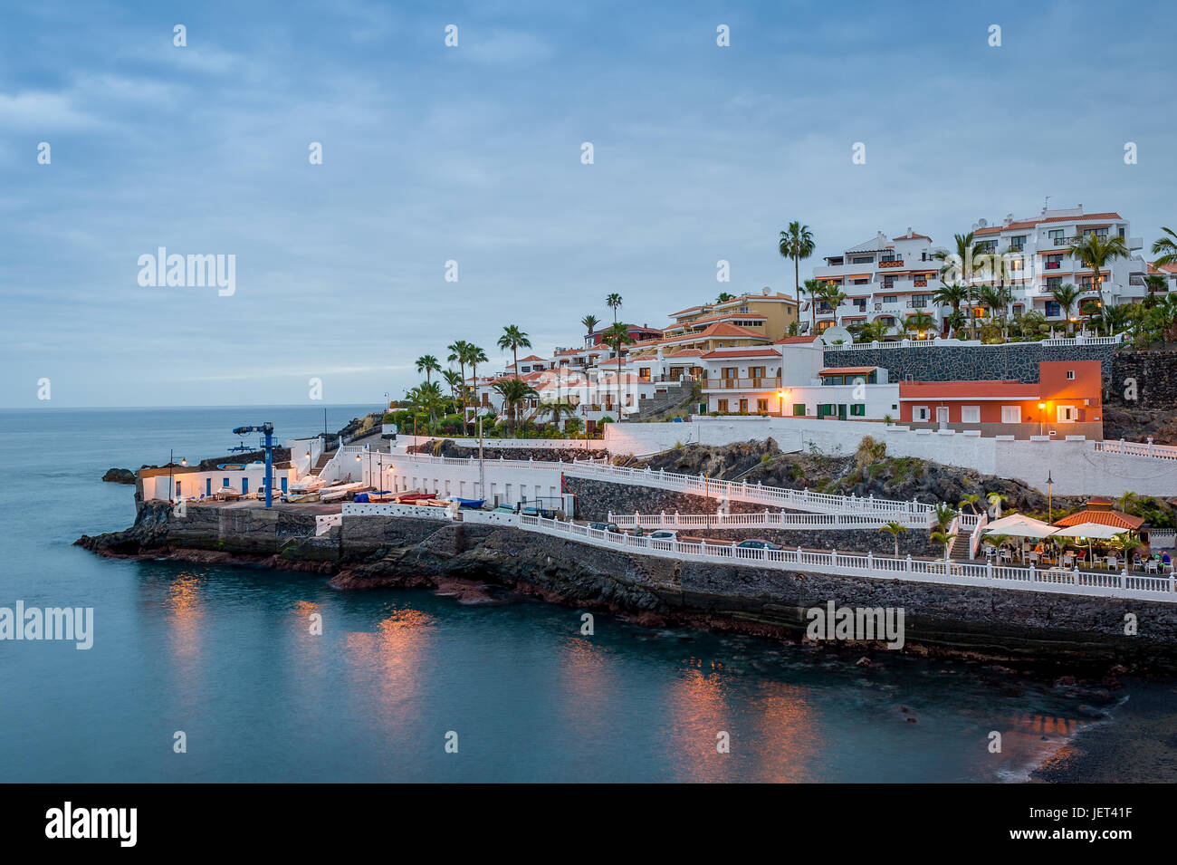 Abend in Puerto de Santiago Stockbild
