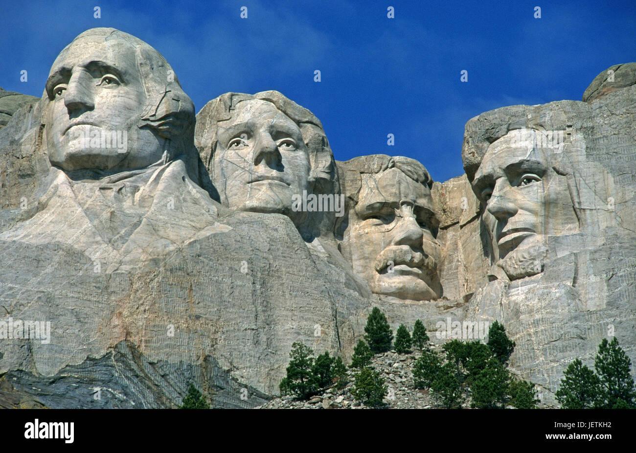 Mt. Rushmore Denkmal, den USA, Mt. Rushmore Monument, USA Stockbild