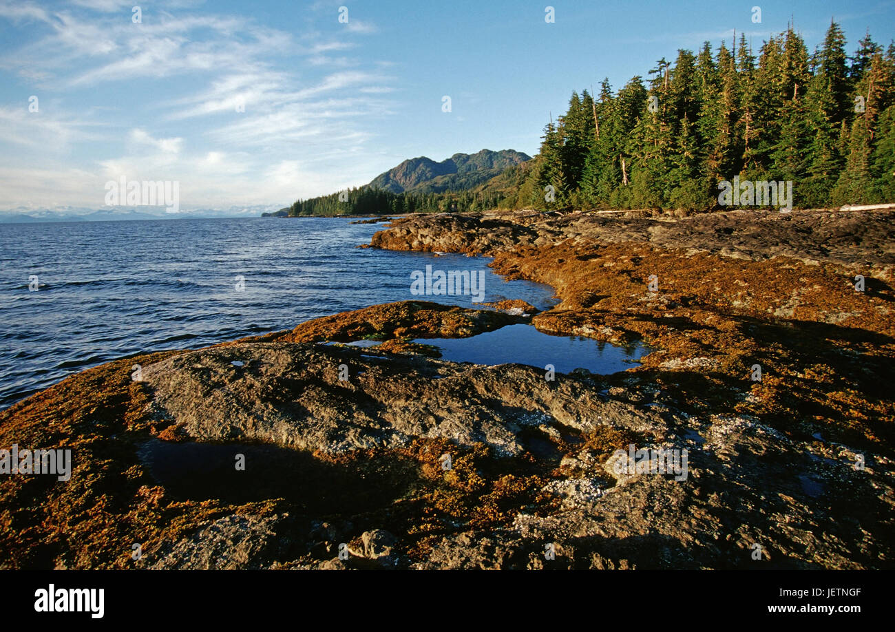 Bank-Landschaft in den Prince William Sound, Alaska, Rahmen Im Prinz ...