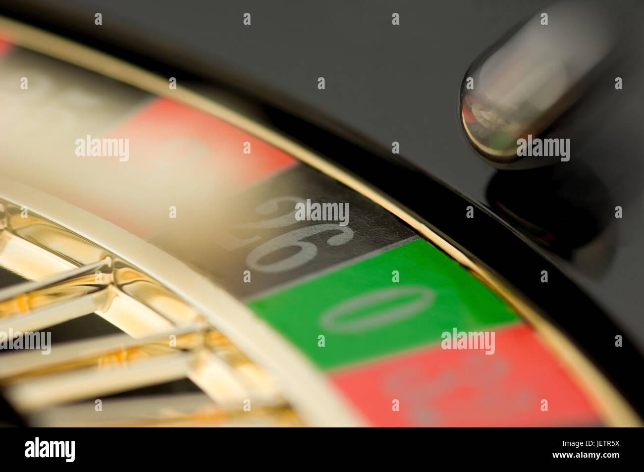 Schrott-Ansicht einer Roulette-Platte, Teilansicht Eines Roulettetellers Stockbild