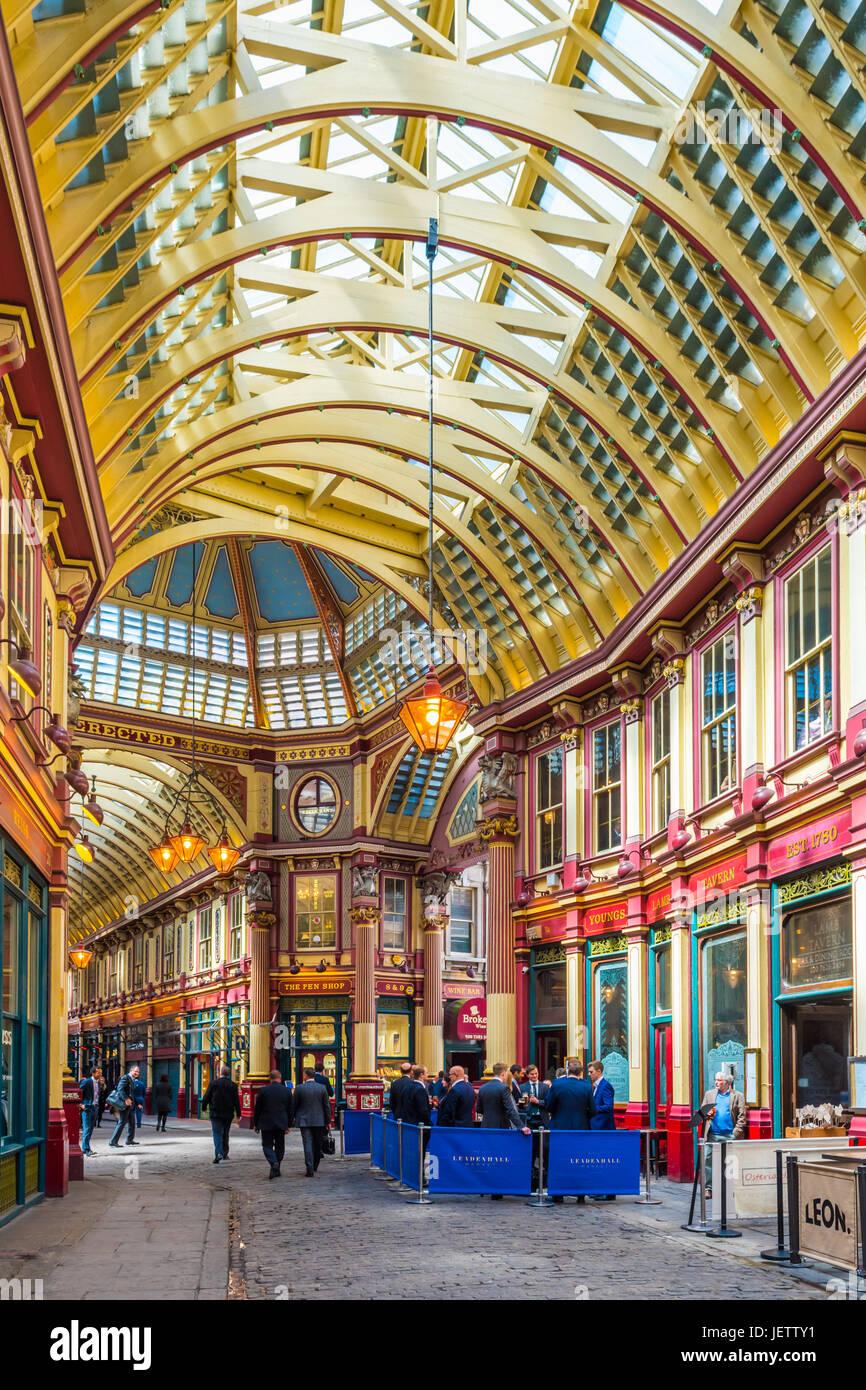 Leadenhall Market, London, UK Stockbild