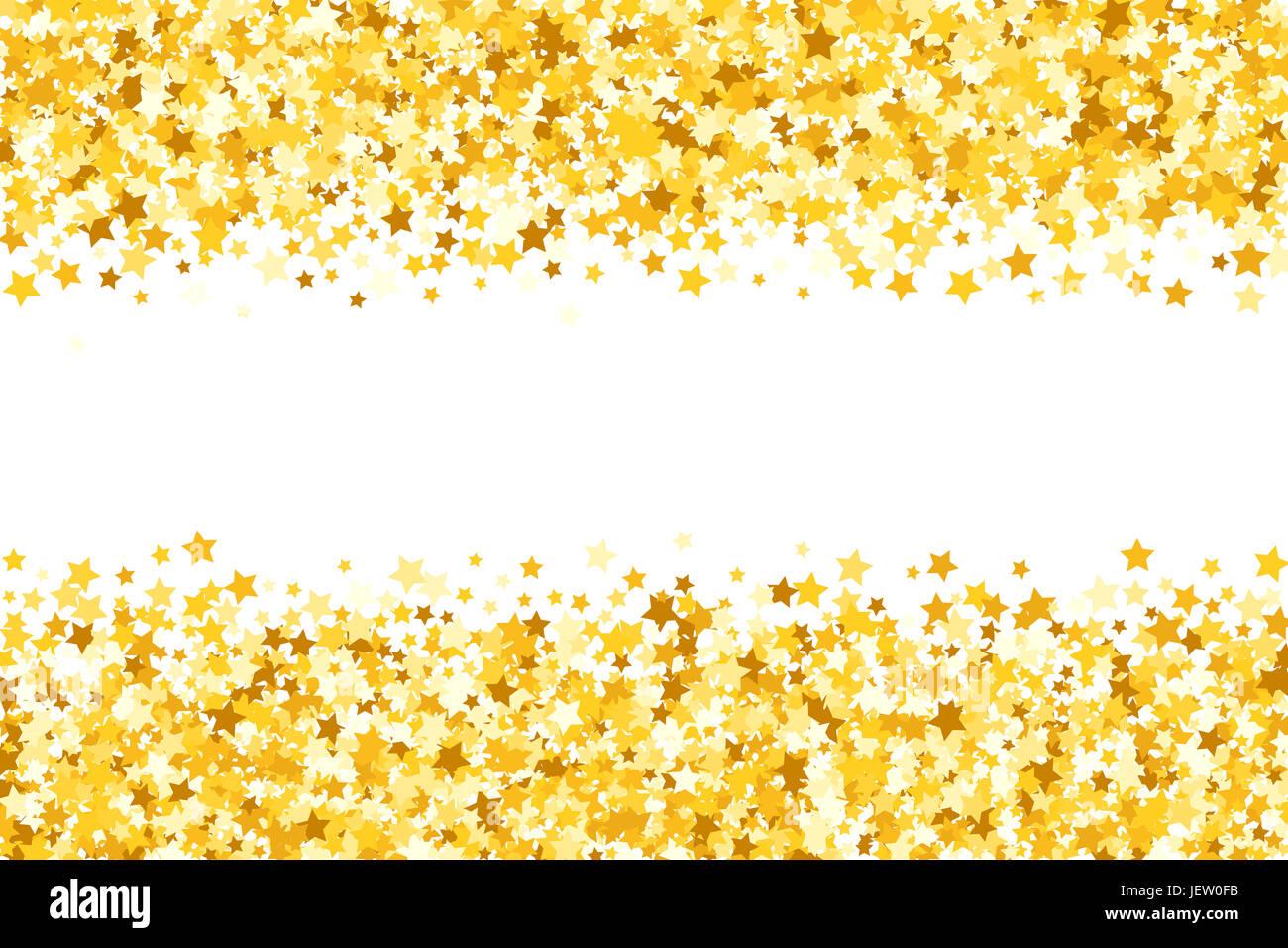 Grenze zu schimmern die Hauptrollen. Gold Glanz. Goldener Rahmen von ...