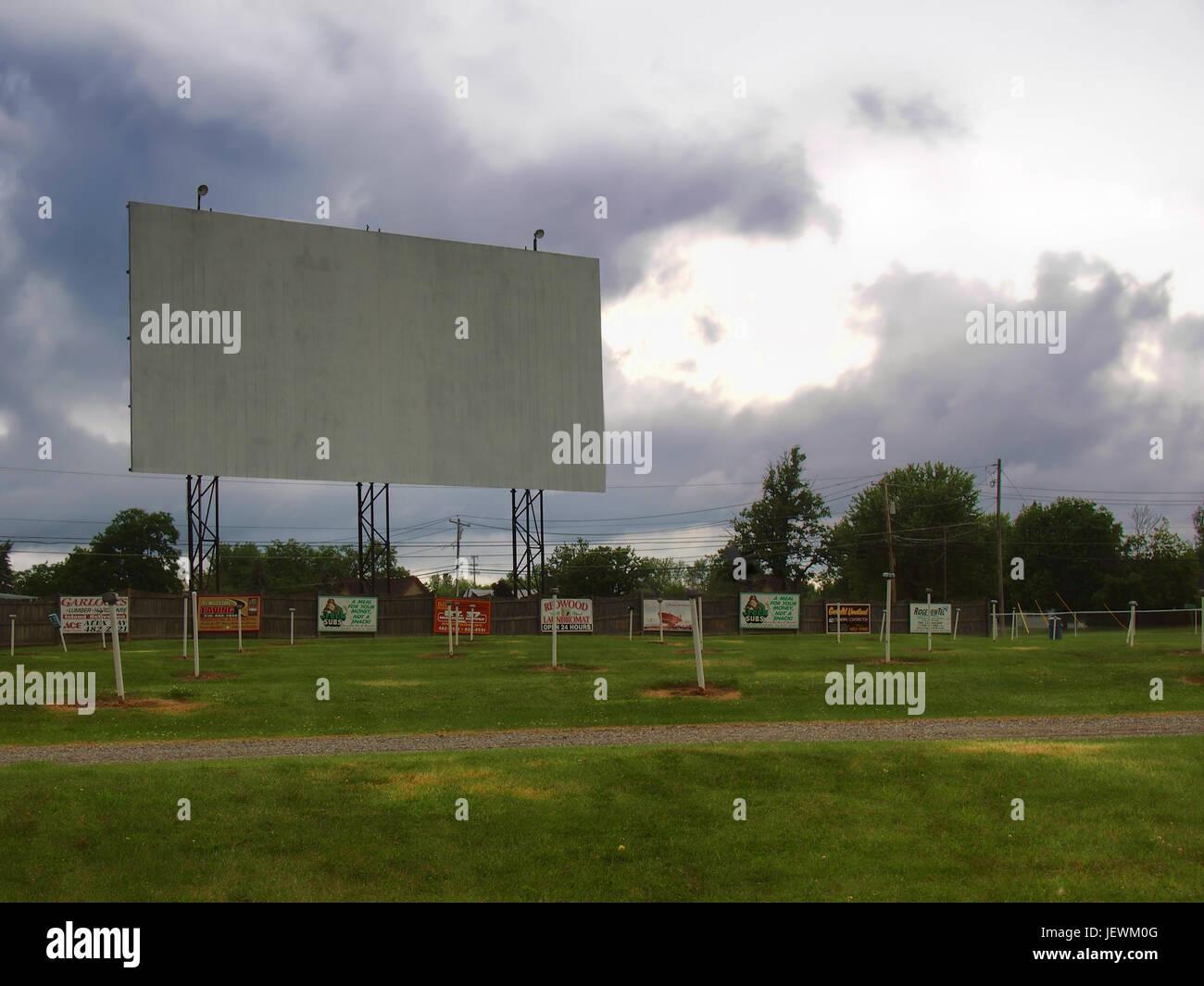 Alexandria Bay, New York, USA. 27. Juni 2017. Die Bucht fahren - In einem Drive-in-Kino befindet sich in Alexandria Stockbild