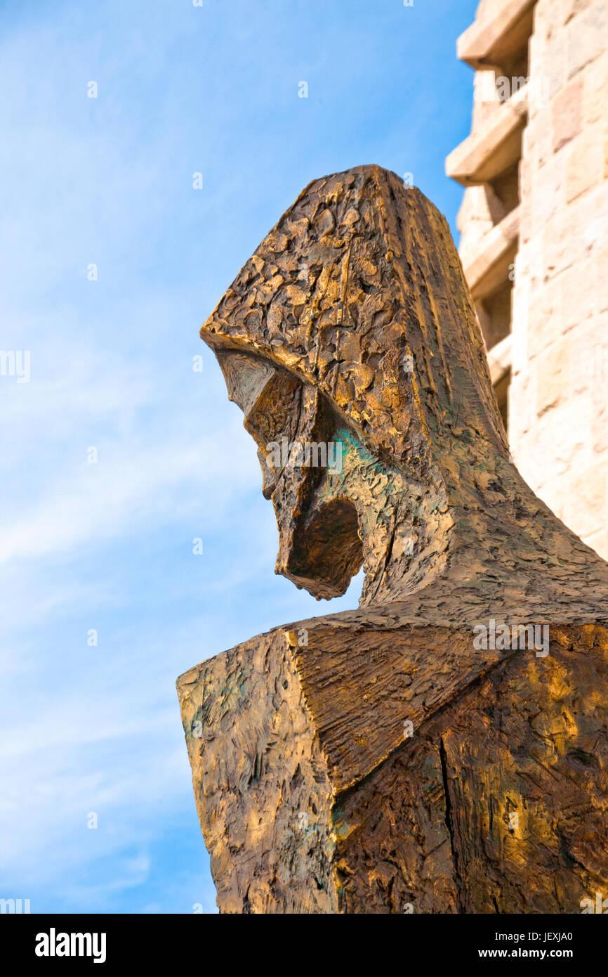 Barcelona, Spanien - 30. Oktober 2010: Detail der Statue von Sagrada Familia Barcelona Stadt betrachten. Stockbild