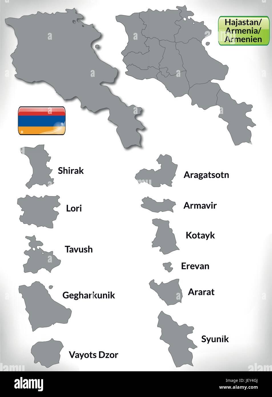 Armenien Karte.Karte Von Armenien Stockfotos Karte Von Armenien Bilder