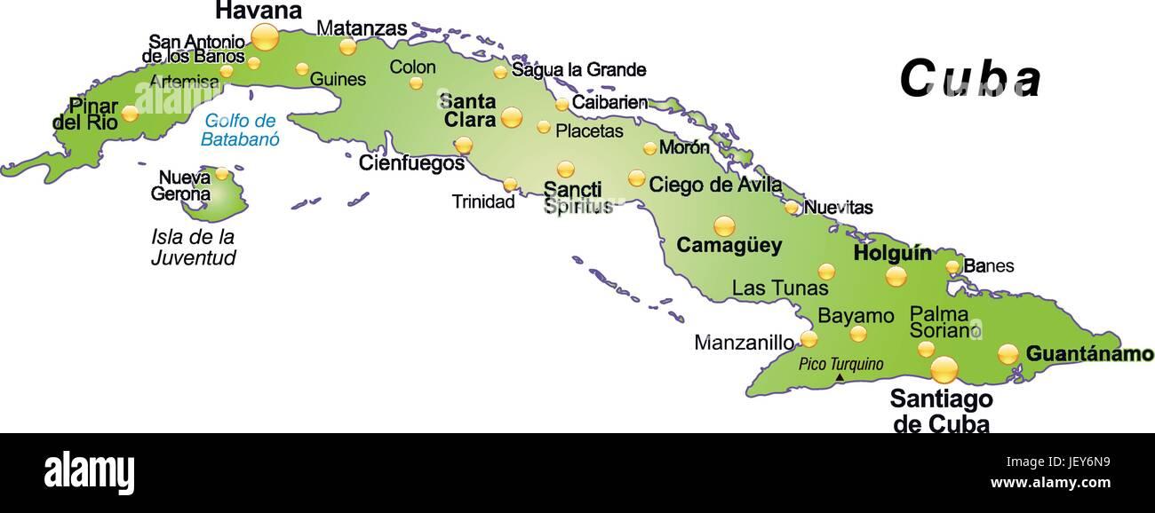 Karte Kuba.Karte Gliederung Kuba Grenzen Atlas Karte Der Welt Karte