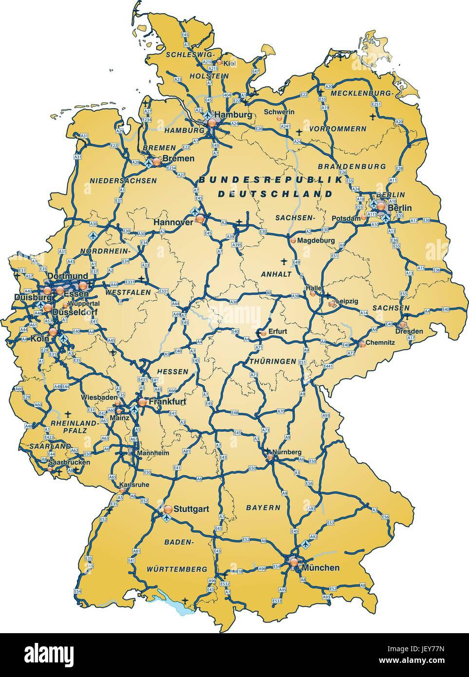 autobahnen karte Verkehr, Transport, Autobahn, Autobahn, Karte, Staat