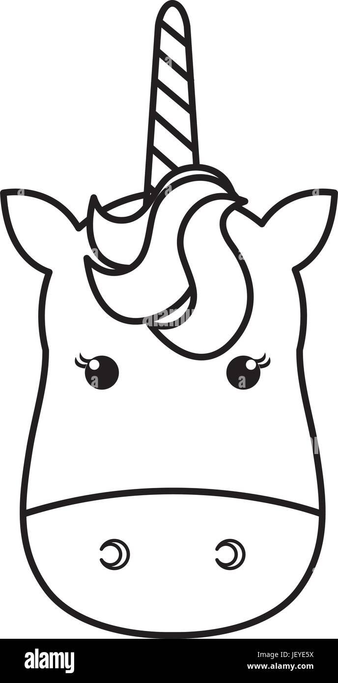Einhorn Tierhorn Symbol Vektor Illustration Design Zeichnen Vektor