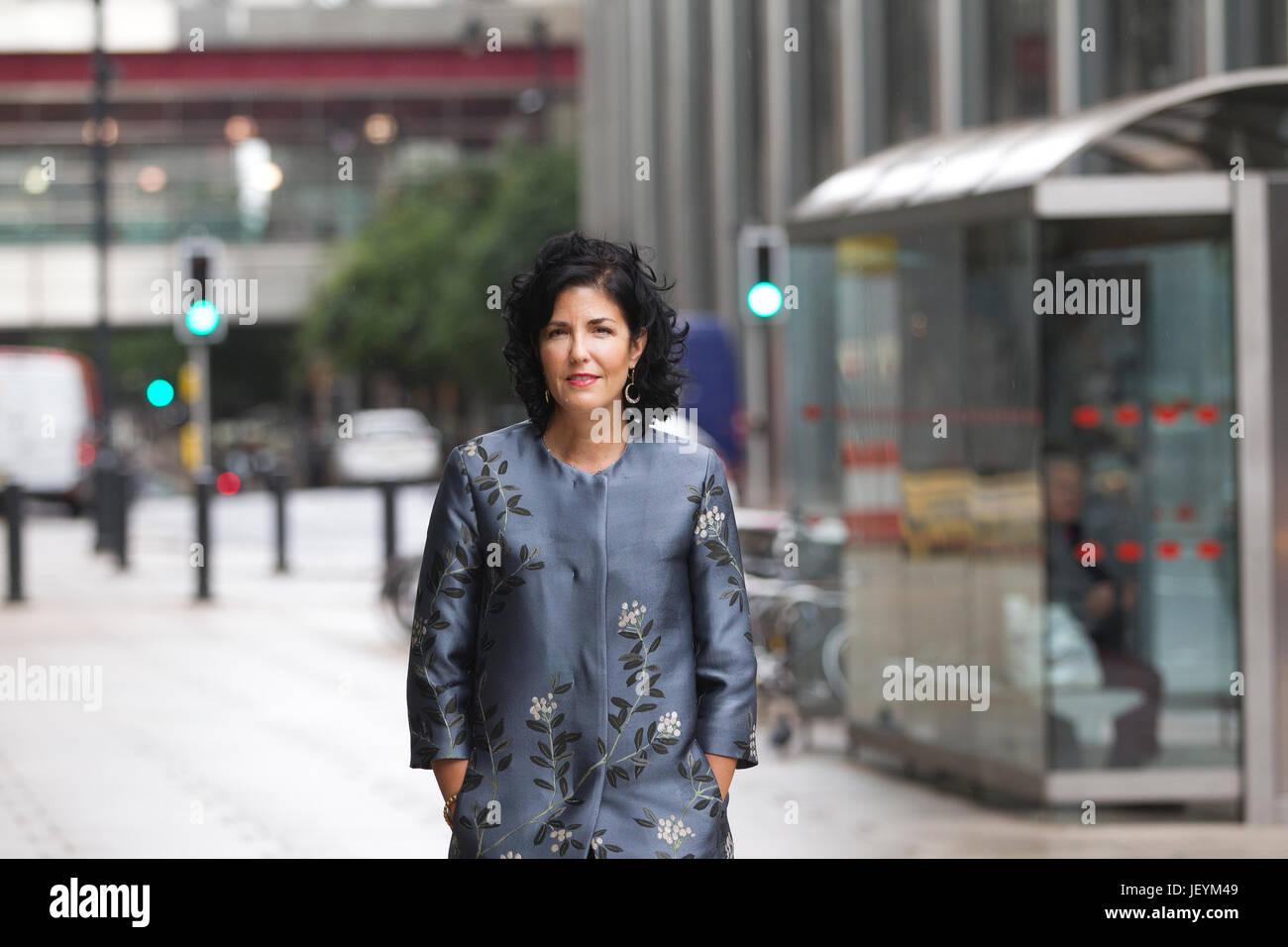 Tina Fordham, Managing Director und Chief Global Political Analyst bei Citi, Citi Group Büros Canary Wharf, Stockbild