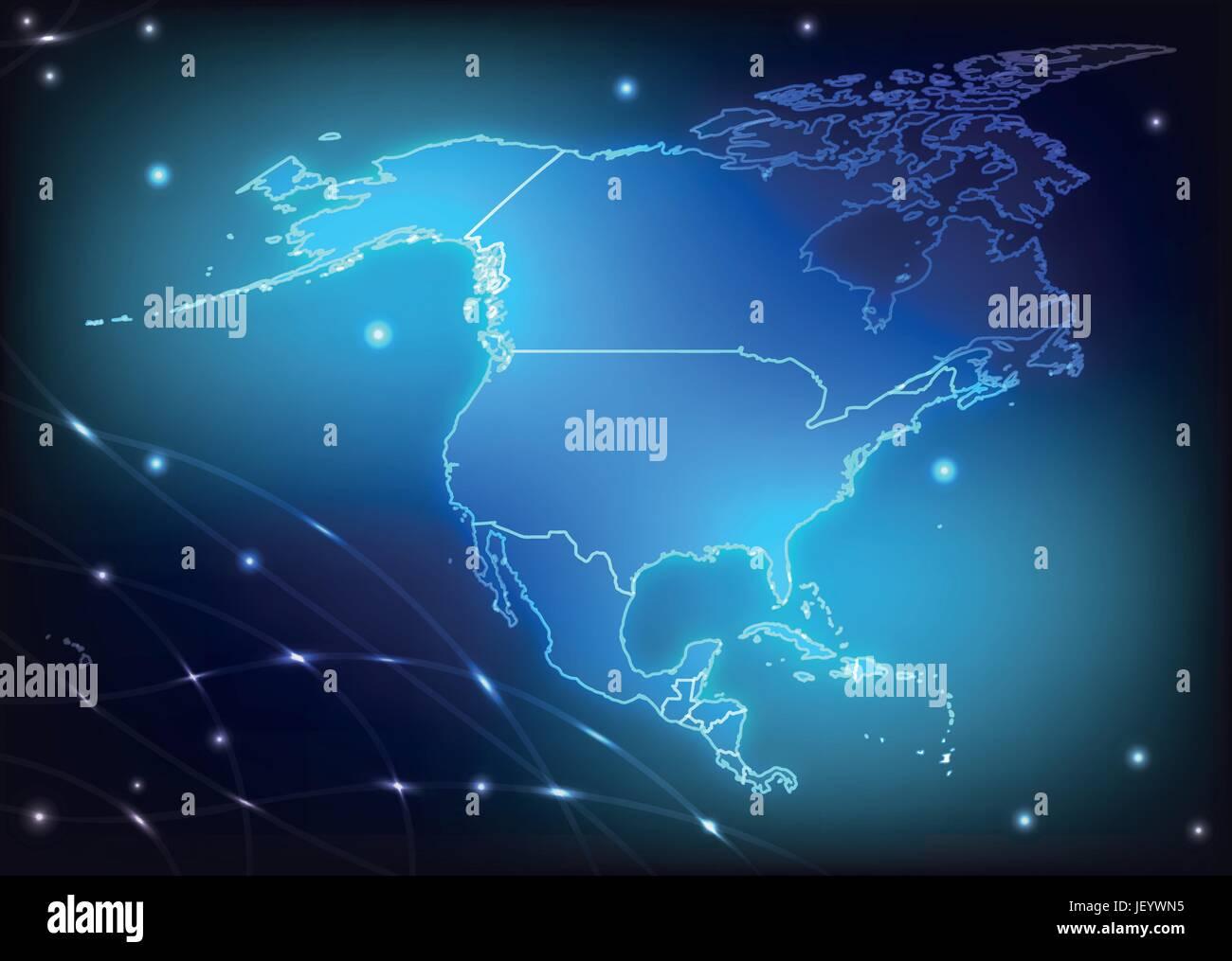 Nordamerikakarte Stockfotos & Nordamerikakarte Bilder - Alamy