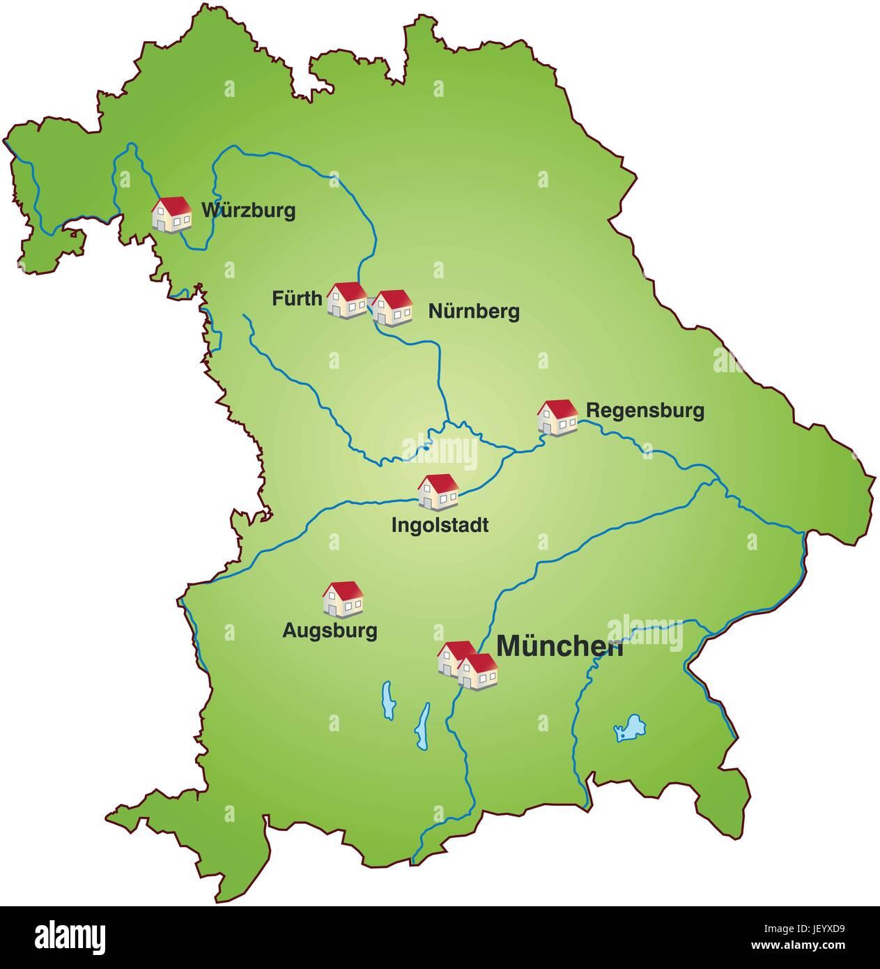 Bayern Karte.Bayern Staat Atlas Karte Karte Der Welt Karte Bayern