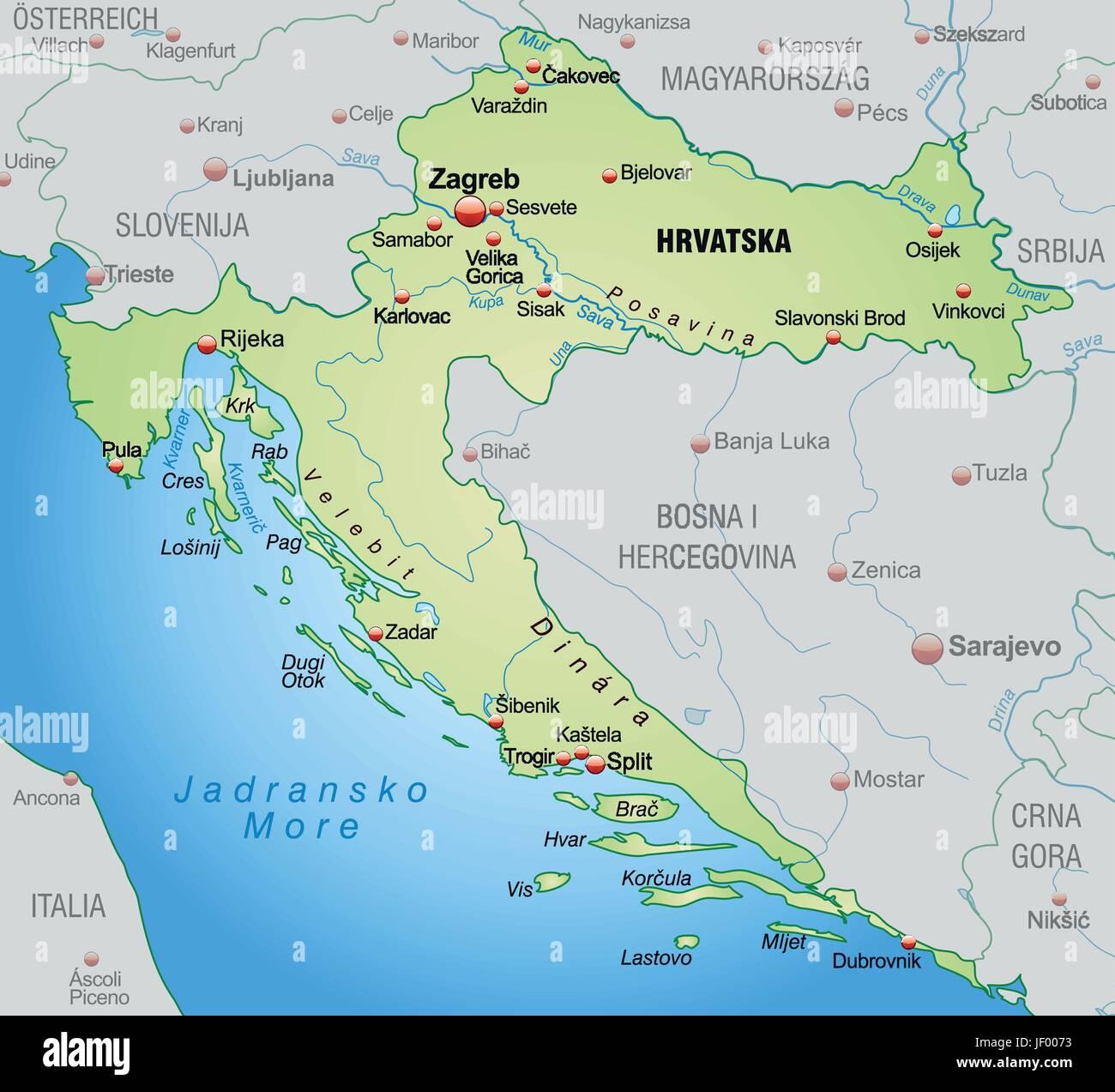 grenze karte kroatien synopse grenzen atlas. Black Bedroom Furniture Sets. Home Design Ideas