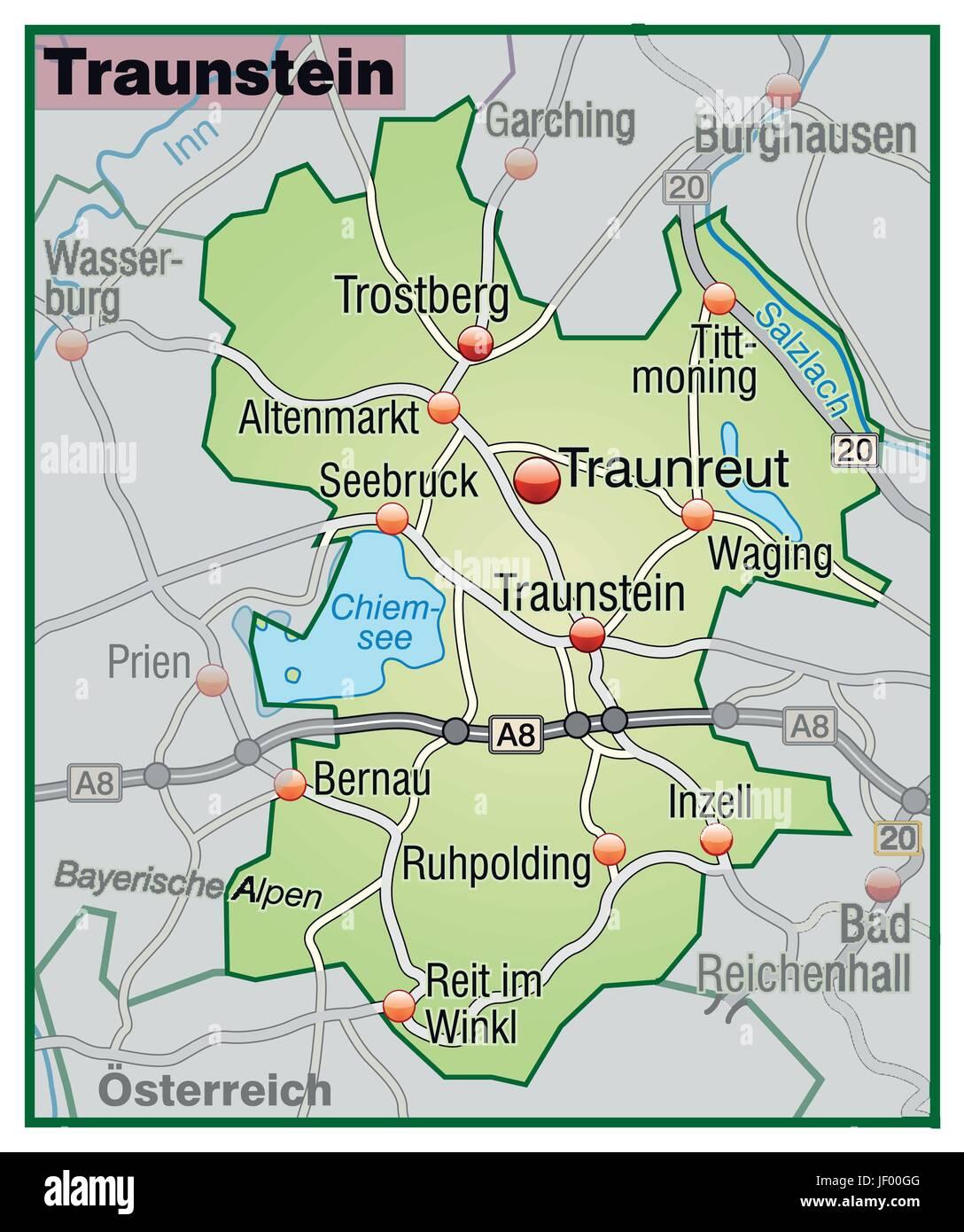 Verkehr Transport Grenze Autobahn Autobahn Karte Synopse