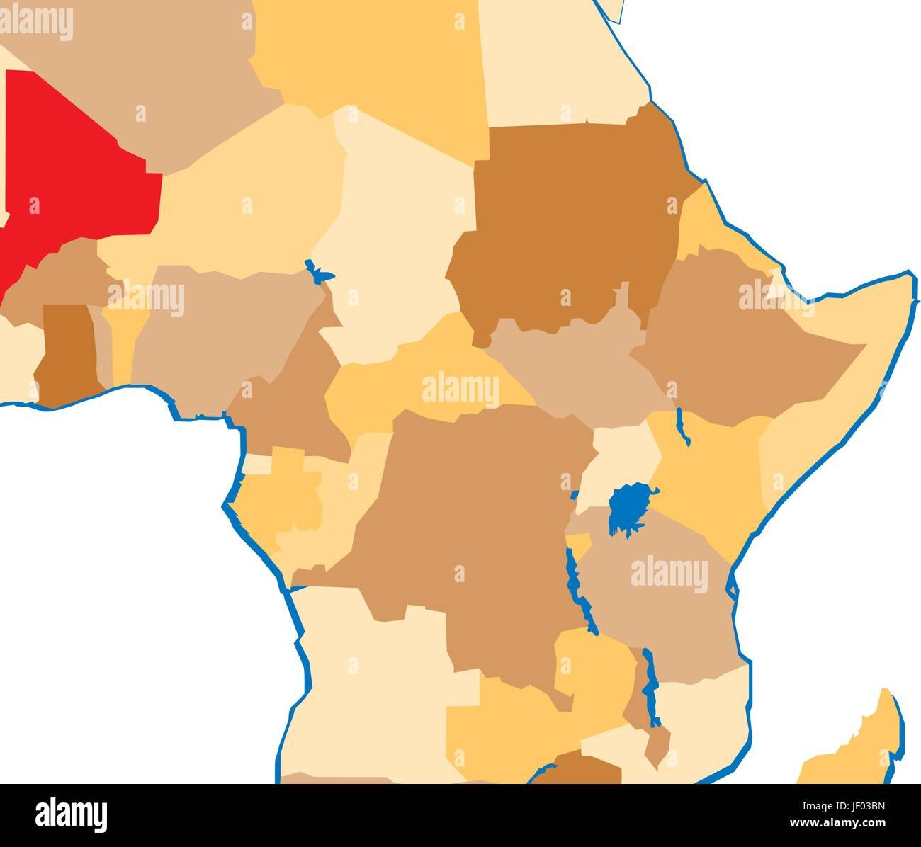 Mali Map Of Africa Stockfotos & Mali Map Of Africa Bilder ...