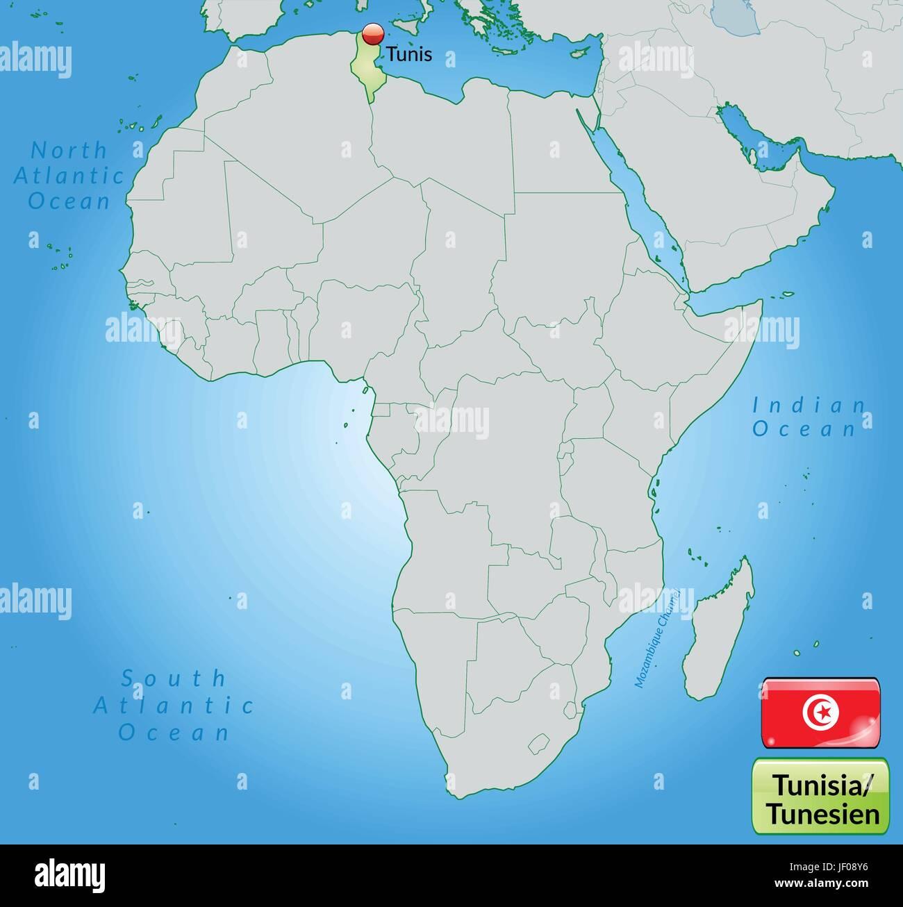 Tunesien Karte Welt.Tunis Karte Stockfotos Tunis Karte Bilder Alamy