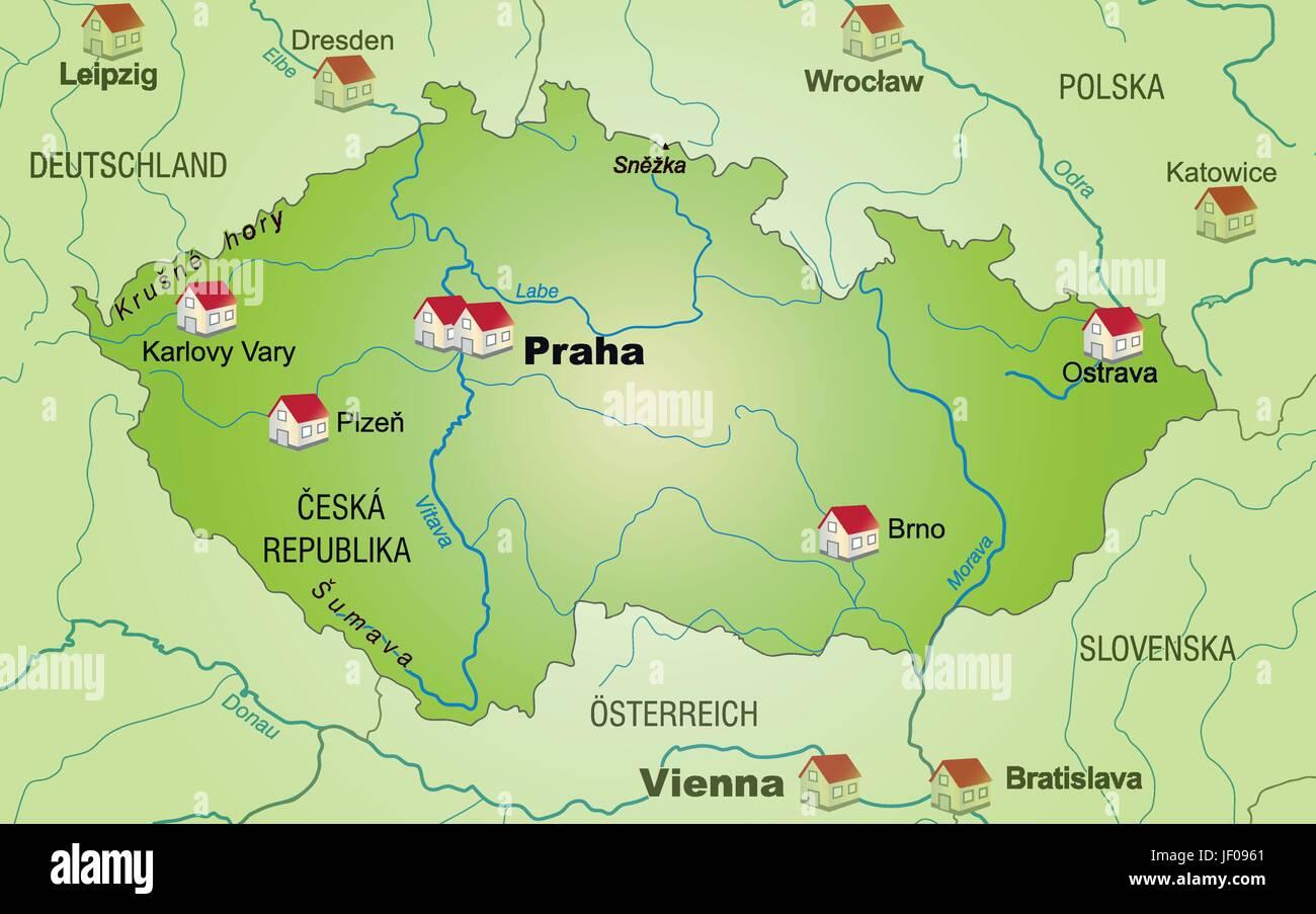 Karte Tschechien.Grenze Karte Tschechien Synopse Grenzen Atlas Weltkarte