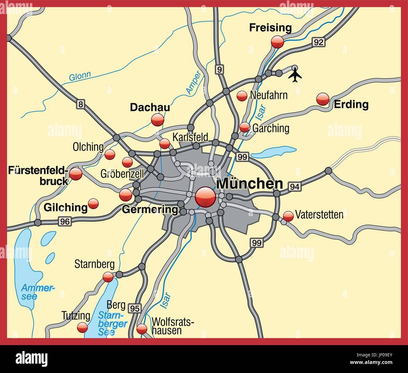 Munchen Grenze Karte Synopse Grenzen Atlas Weltkarte
