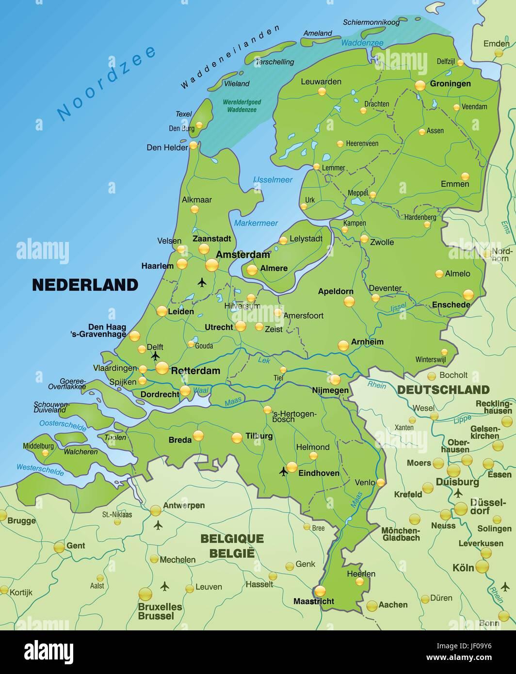 Niederlande Karte Welt.Niederlandekarte Stockfotos Niederlandekarte Bilder Alamy