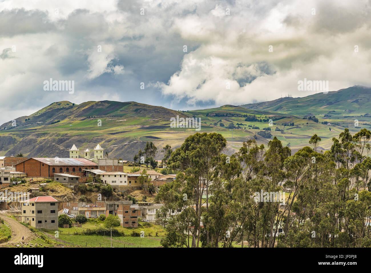 Anden Stadt Landschaft Szene Azuay Ecuador Stockbild