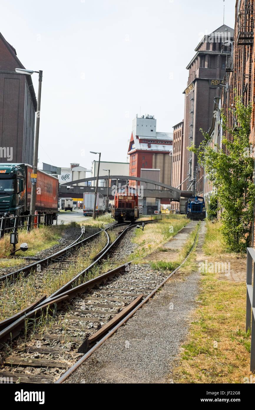 Bahngleise Bremen Stockbild