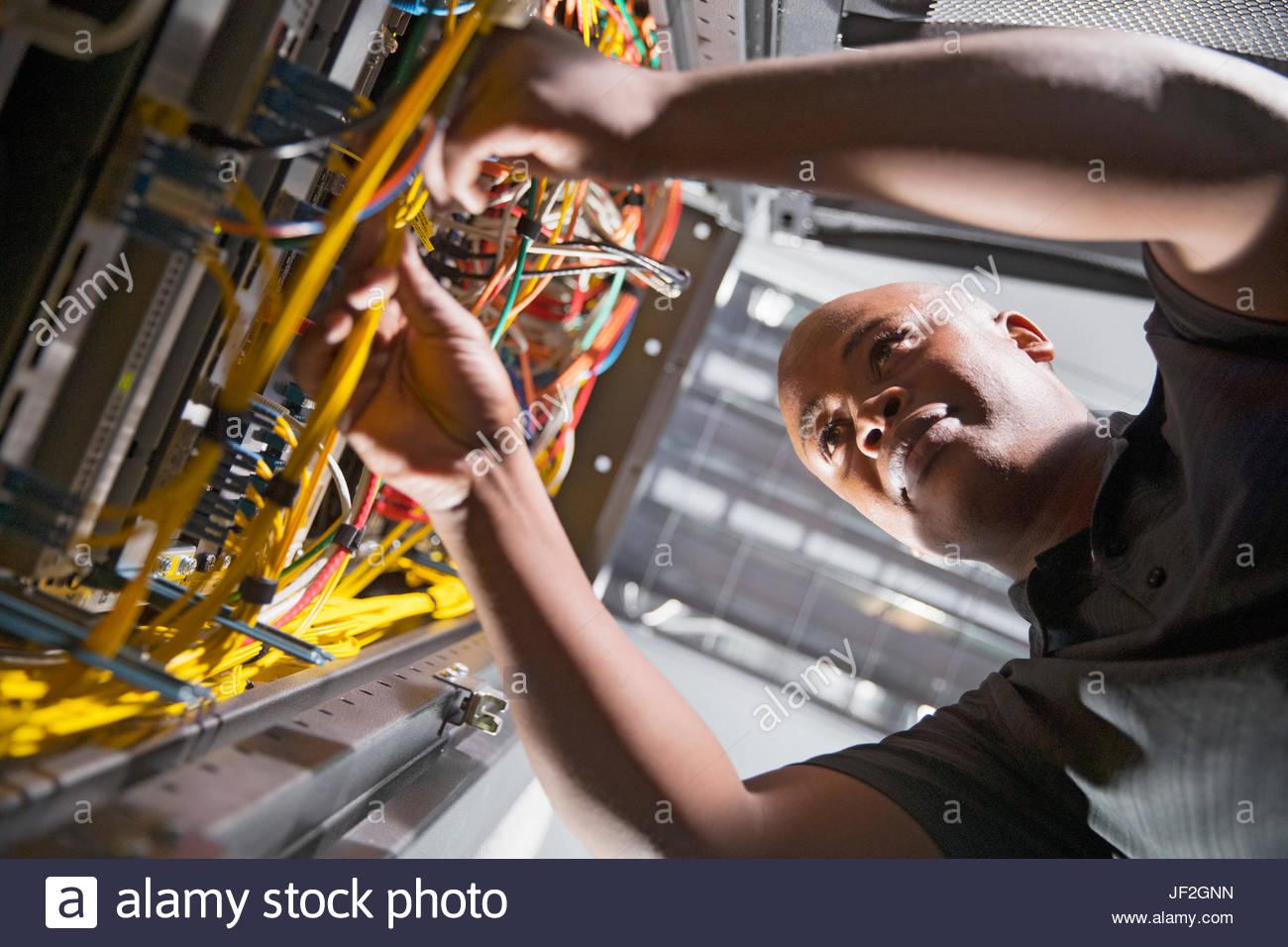 Server Racks In Data Center Stockfotos & Server Racks In Data Center ...